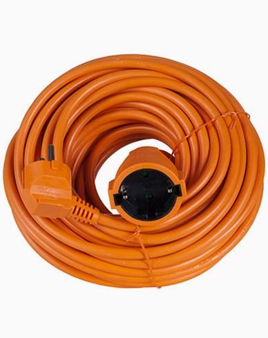 Airam 1-veis Trimmer orange skjøteledning 20 m IP20