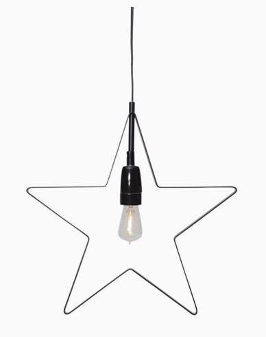 Star Trading Hengende dekorasjon Stjerne Orbit E14. Svart.Inkl Ledpære