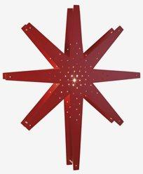 Star Trading TALL julestjerne, rød. E14 60x70x10 cm