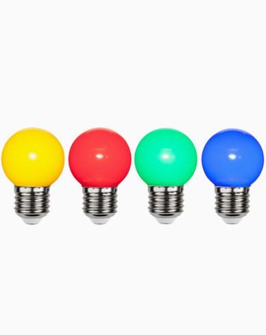 Star Trading LED-lampa i PC plast Färgade 4-pack 1W