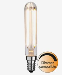 Star Trading Illumination LED Klar filament rørpære E14 2700K 250lm 2,5W (25W)