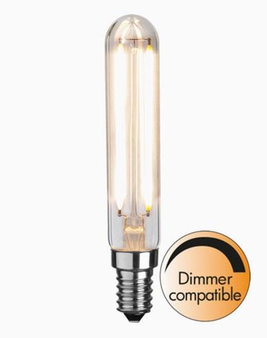 Star Trading Illumination LED Klar filament rørpære E14 2700K 250lm 2,5W (25W)