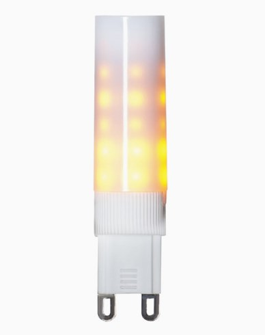 Star Trading Decoration LED Flame lamp G9 1300K Hvit