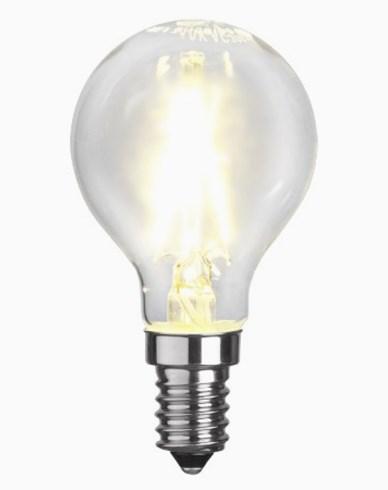 Star Trading Illumination LED klotlampa filament E14 250lm 2,6W (25W)