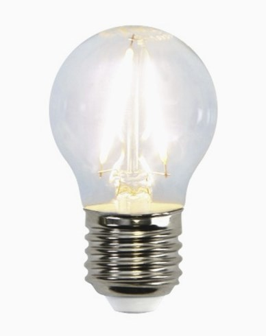 Star Trading Illumination LED klotlampa E27 Klar filament 2700K 250lm 2,6W (25W)