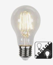 Star Trading LED-Filament skumringssensor Klar E27 4,2W/2700K (37W)