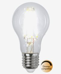 Star Trading Illumination LED-lampa Klar E27 8W/4000K (65W)