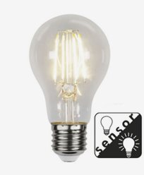 Star Trading LED-Filament skumringssensor Klar E27 7W/2700K (60W)