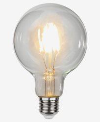 Star Trading Filament LEDlampa Klar G95. 4,7W/2700K (40W). Dim