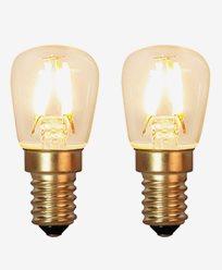 Star Trading Decoration LED Klar filament lampa E14 1,3W (15W) 2-pack