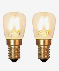 Star Trading Decoration LED Klar filament lampe E14 1,3W (15W) 2-pack