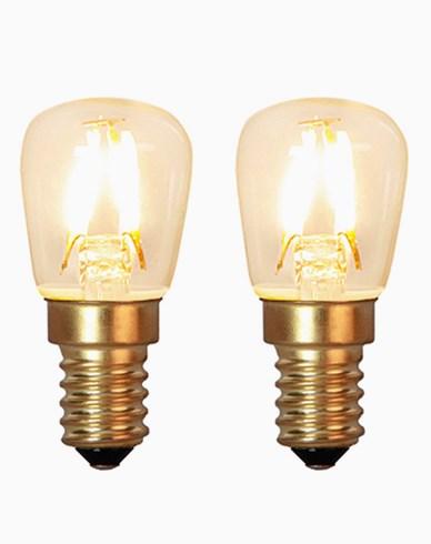 Star Trading Decoration LED Klar filament lampe E14 1,3W (15W) 2-pack