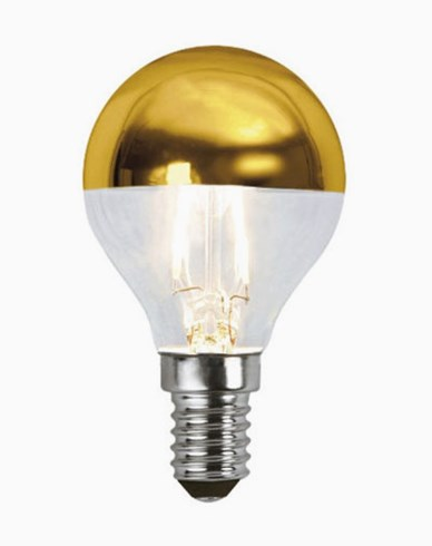 Star Trading Illumination LED filament toppförspeglad klotlampa Guld E14 1,8W (15W)