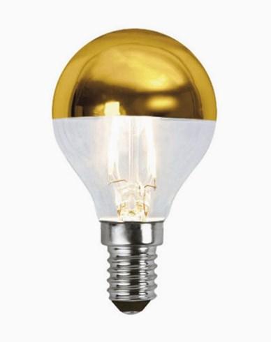 Star Trading Illumination LED filament toppforspeilet pære Gull E14 1,8W (15W)