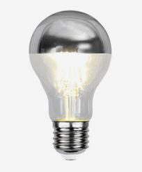 Star Trading Illumination LED filament toppförspeglad klotlampa Silver E27 4W (30W) Dimbar