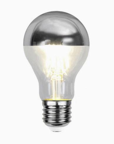 Star Trading Illumination LED filament toppforspeilet klotpære Sølv E27 4W (30W) Dimbar