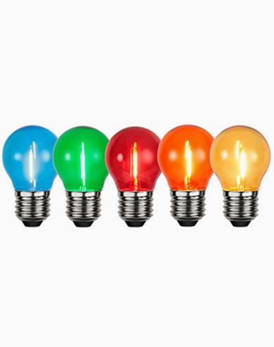 Star Trading Decoration LED lampa klot E27, 5 färger, 5-pack