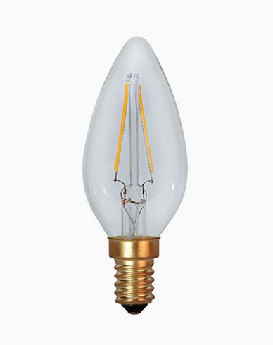 Star Trading Decoration LED Klar kronljus E14 2100K 1,5W