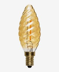 Star Trading LED kronljus vriden amber E14 Soft Glow 60lm