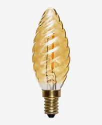 Star Trading LED-pære Mignon vridd amber E14 Soft Glow 60lm 0,8W