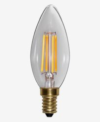 Star Trading LED-pære Mignon Klar E14 Soft Glow Dim 350lm 4W