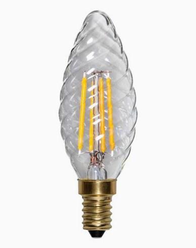 Star Trading LED-pære Mignon vridd Klar E14 Soft Glow Dim 350lm 4W