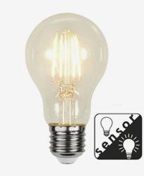 Star Trading LED-Filament skumringssensor Klar E27 4,2W/2100K (32W)