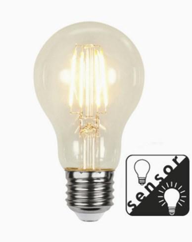 Star Trading LED-Filament Skymningssensor Klar E27 4,2W/2100K (32W)