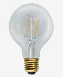 Star Trading Decoration LED Klar filament Glob G80 E27 2,3W (≈25W)