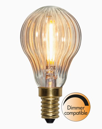 Star Trading LED-lampa Soft Glow klot räfflad E14 0,8W 50lm