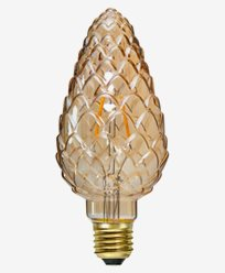 Dekoration LED filament E27 Gul kotte