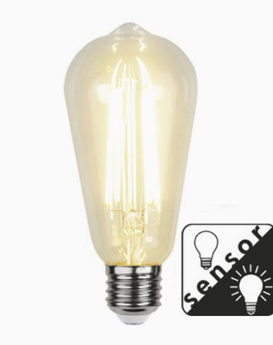 Star Trading LED Sensorlampa Edison 4,2W/2100K E27
