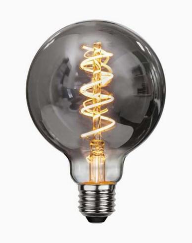 Dekoration LED filament E27 G95 Smoked