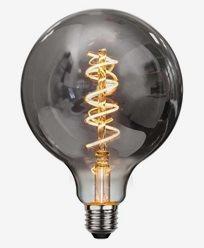 Dekoration LED filament E27 G125 Smoked