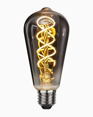 Dekoration LED filament E27 ST64 Smoked