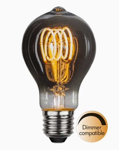 Star Trading LED-lampa Normal E27 3,7W/2100K Spiral, smoked
