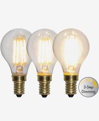 Star Trading LED-pære Illum 3-trinns klikk dimmer 4W 2100K E14