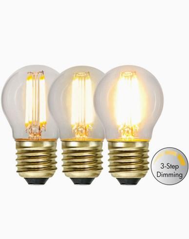 Star Trading LED-lampa Klot 3-stegs 4W 2100K E27