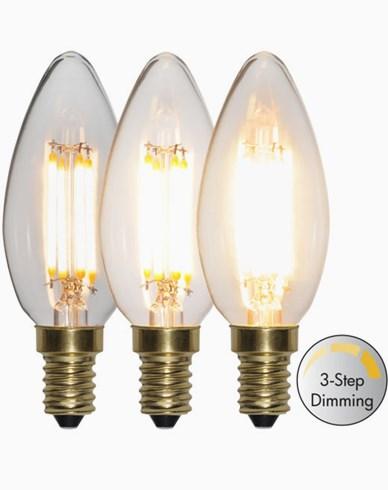 Star Trading LED-lampa Kronljus 3-stegs 4W 2100K E14