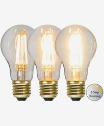 Star Trading LED-pære Normal 3-trinns klikk dimmer 6,5W 2100K E27