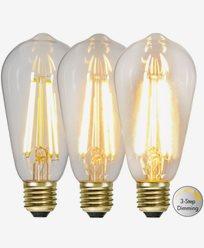 Star Trading LED-pære Edison 3-trinns klikk dimmer 6,5W 2100K E27