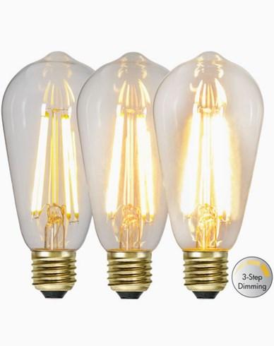 Star Trading LED-lampa Edison 3-stegs 6,5W 2100K E27
