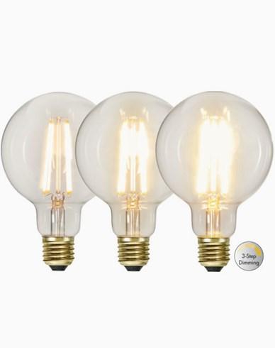 Star Trading LED-lampa G95 3-stegs 6,5W 2100K E27