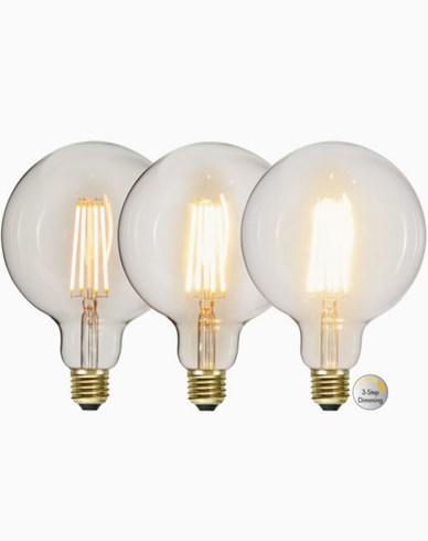 Star Trading LED-lampa G125 3-stegs 6,5W 2100K E27