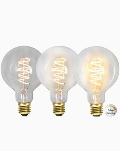 Star Trading LED-pære G95 3-trinns klikk dimmer 4W 2100K E27