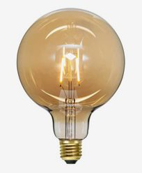 Star Trading LED Glob amber E27 G125 Soft Glow 80 lm
