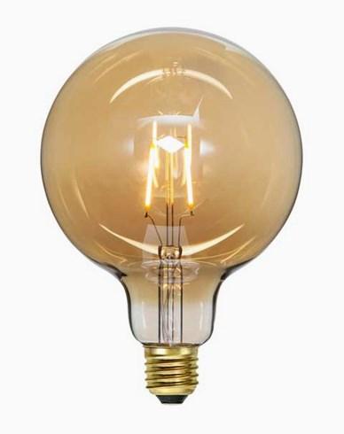 Star Trading LED-pære Globe amber E27 G125 Soft Glow 80 lm 0,75W