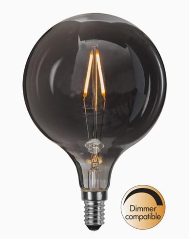 Star Trading LED-kronepære Ø95mm soft glow heavy smoke 1,4W 2100K