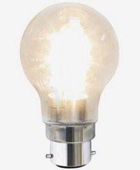 Decoration LED Clear PC-plastic B22 2100K 1,6W(15W)