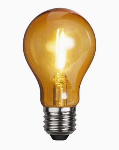 Star Trading Decoration LED filament party lampa E27 1W Orange